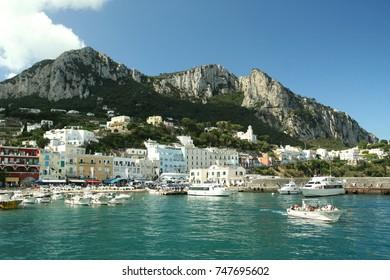 The port in Capri, Italy