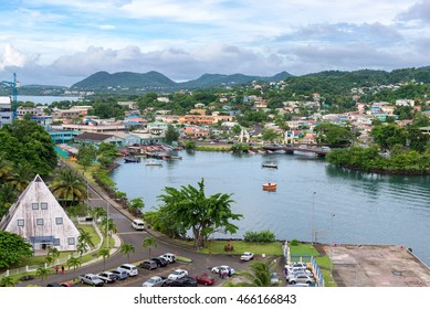 port city Castries, St.Lucia, Caribbean