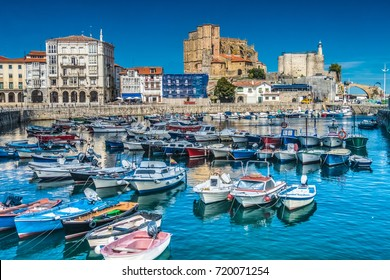 The port city of Castro Urdiales on the Bay of Biscay, Cantabria, northern Spain