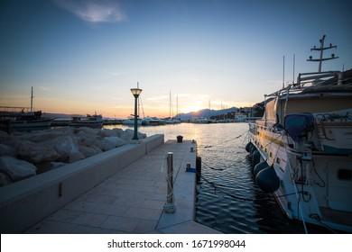port in the city of Baška Voda, Croatia - Shutterstock ID 1671998044