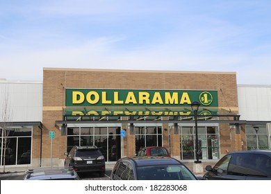 Port Coquitlam - February 26 2014 : Dollarama store operator in Canada with 800 locations across the country.
