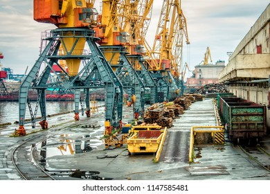 port cranes and cargoes