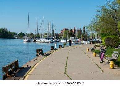 Port Dalhousie harbor in St. Catharines, Ontario