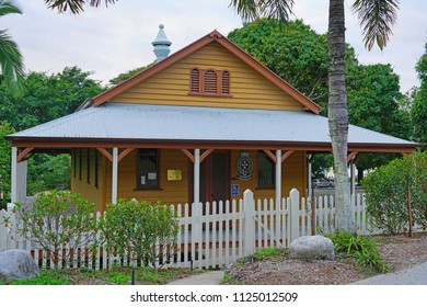 PORT DOUGLAS, AUSTRALIA -1 AUG 2017- View of the Port Douglas Court House Museum, a historic courthouse in Port Douglas on the Coral Sea in Far North Queensland, Australia.