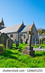 Port Eynon, Gower, UK: April 26, 2018: Historical church of Port Eynon