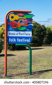 Port Fairy, Australia - January 25, 2016: Port Fairy is a popular tourist town on the south-west coast of Victoria. Every March it hosts the Port Fairy Folk Festival music festival.