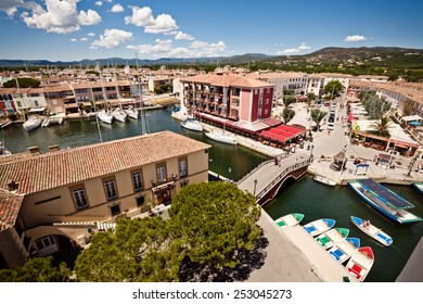 Port Grimaud, France - 22 June: Panoramic view of Port Grimaud, France. 22 June, 2013