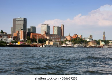 Port of Hamburger with harbor, Hamburg, Germany