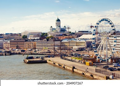 Port in Helsinki city, Finland