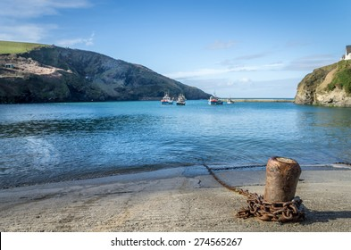 Port Isaac in cornwall england uk. Stunning Harbour location.