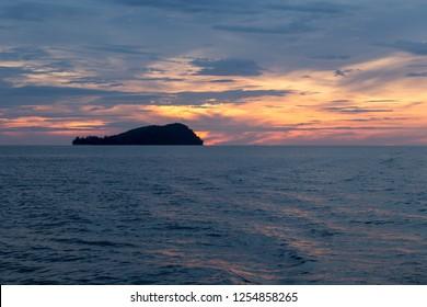 port at Kota kinabalu malaysia at sunset time