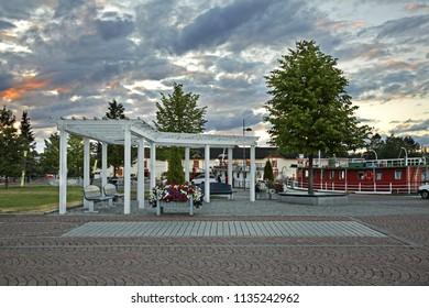 Port in Kuopio. Northern Savonia. Finland
