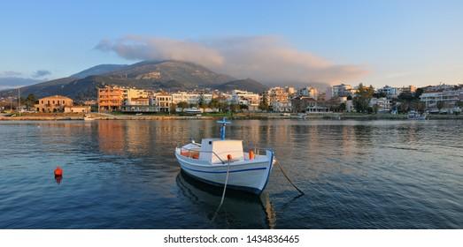The port of Kyparissia. Peloponnese, Greece.