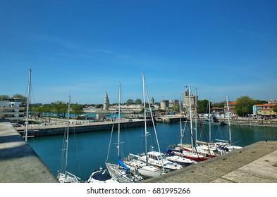 Port of La Rochelle, France, famous tourism destination