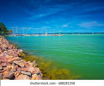 Port at lake Balaton