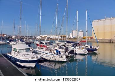 Port of Les Sables d'Olonne, commune in the Vendée department in the Pays de la Loire region in western France