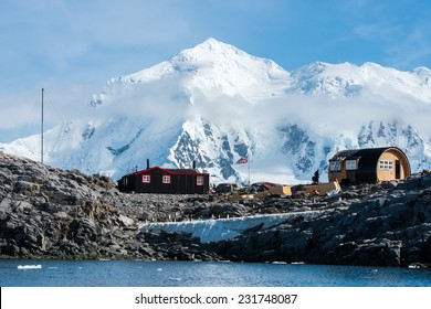 Port Lockroy, a research station on north-west shore of Wiencke Island in Palmer Archipelago in Antarctica
