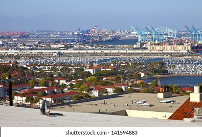 Port of Long Beach California imports and exports trade facility.