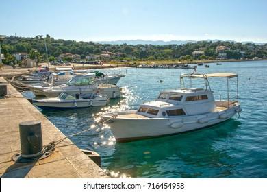 Port of Lopar, island Rab in Croatia