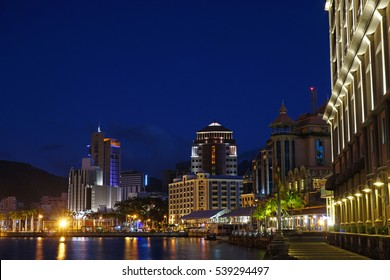 Port louis capital of Mauritius Porlwi by night