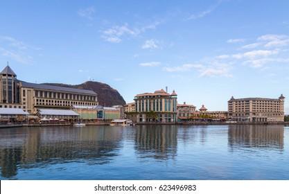 port louis le caudan waterfront capital of Mauritius.