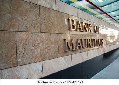 Port Louis - Mauritius, August 2010 - Signage of Bank of Mauritius.