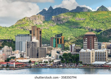 PORT LOUIS, MAURITIUS - DECEMBER 12, 2015: Port Louis cityscape, Mauritius. The city is the country's economic, cultural, political centre and most populous city.