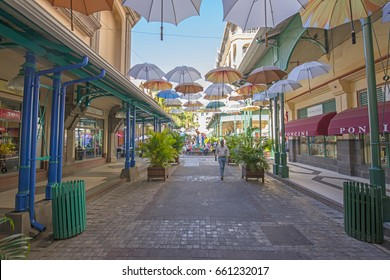 PORT LOUIS, MAURITIUS, MAY 22, 2017. People shopping and walking in Caudan Waterfront, in Port Louis, Mauritius on May 22nd 2017.