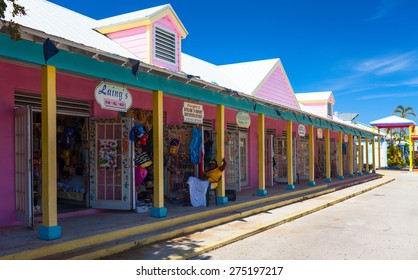 PORT LUCAYA. FREEPORT, BAHAMAS - APRIL 26, 2012: Touristic island in Caribbean sea attracting thousands of tourists every weekend.