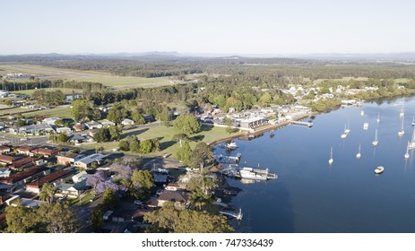 Port Macquarie and the  hastings river punt car  ferry
