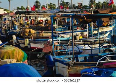 The port in Mahdia, Tunesia