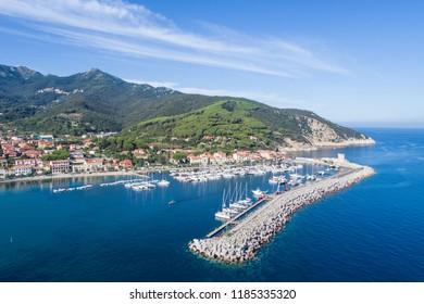 Port of Marciana Marina. Elba Island in Italy