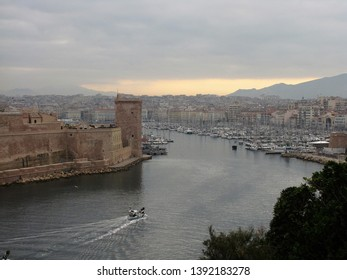 The port of Marseille seen from the pharo