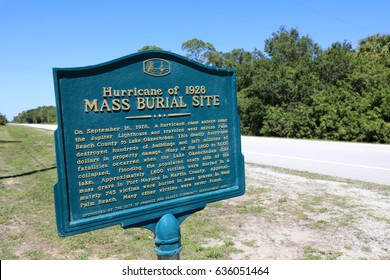 PORT MAYACA, FLORIDA - MAY 7:  The Port Mayaca Cemetery, on May 7, 2017,in Port Mayaca, site of the mass burial of 1,600 victims of the 1928 hurricane that hit Lake Okeechobee, with flooding.