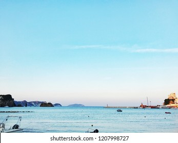 Port in natural harbor