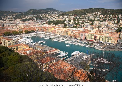 Port of Nice in French Riviera