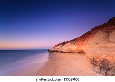 Port Noarlunga cliffs at twilight (Port Noarlunga,  South Australia, Australia