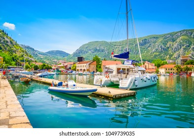 Port in old town Kotor, Montenegro.