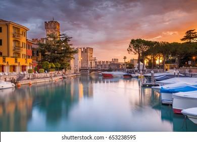 Port on Lake Garda Sirmione