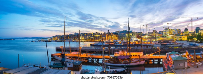 Port of Oslo city in Norway.