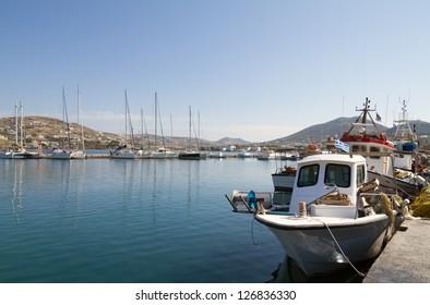 port of Parikia,  Paros island , Greece