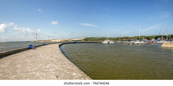 Port and the pier in the resort of Nida
