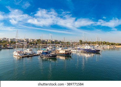 Port Piraeus in a summer day in Athens, Greece
