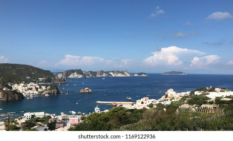Port of Ponza island in Italy