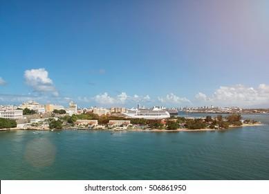 port in Puero Rico island San Juan city