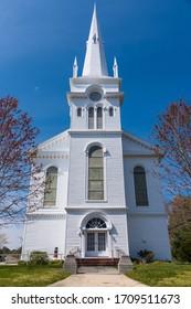 Port Republic, NJ / USA - April 19 2020: St. Paul's United Methodist Church