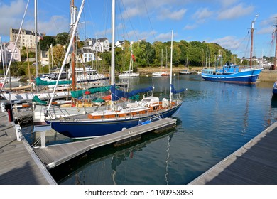 Port Rhu of Douarnenez, a commune in the Finistère department of Brittany in north-western France.