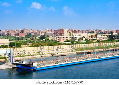 Port Said, Egypt - view from Suez canal