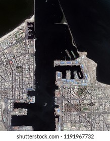Port Said Harbor at the entrance of the Suez Canal