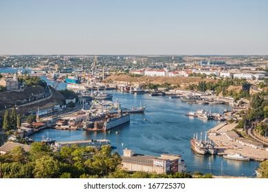 In the port of Sevastopol. Ukraine, Crimea